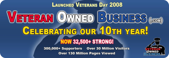 We are a proud member of Veteran Owned Business. Click this badge to see our profile!
