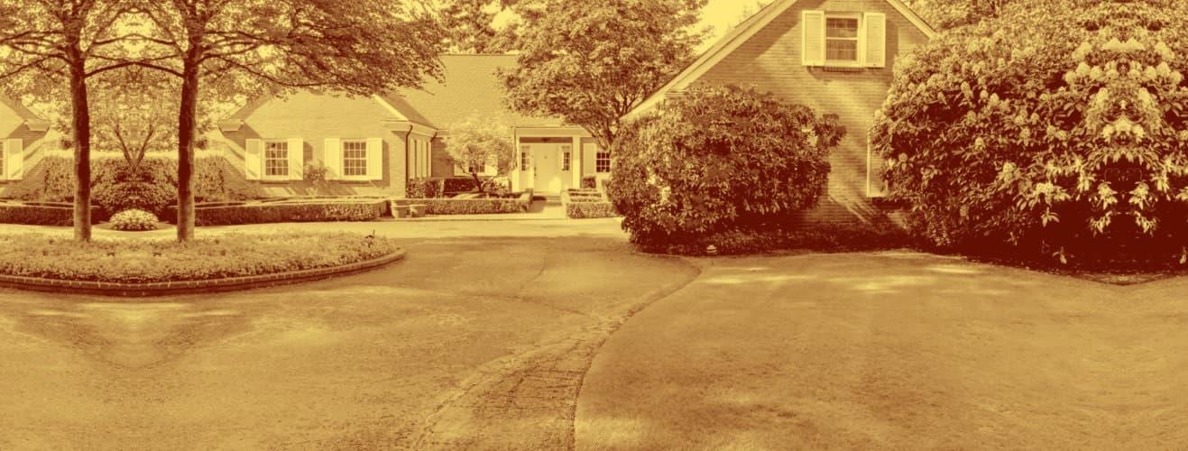 beautiful house backyard
